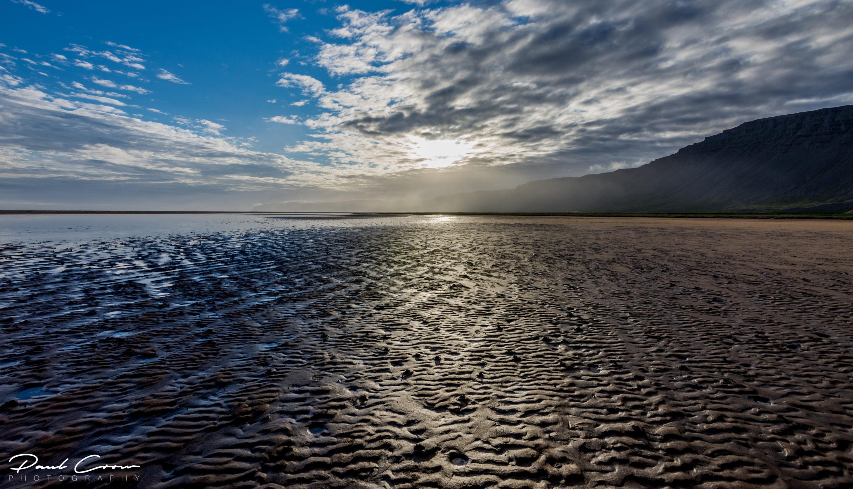 The beach of silence in Rauðasandur
