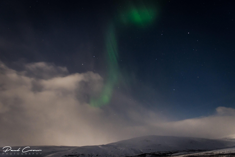 Lapland shapes of Aurora Borealis