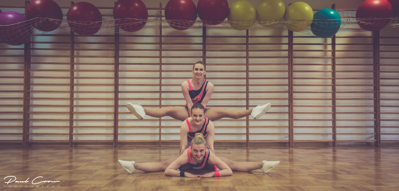 AZS SGGW Sports Aerobics Team poses