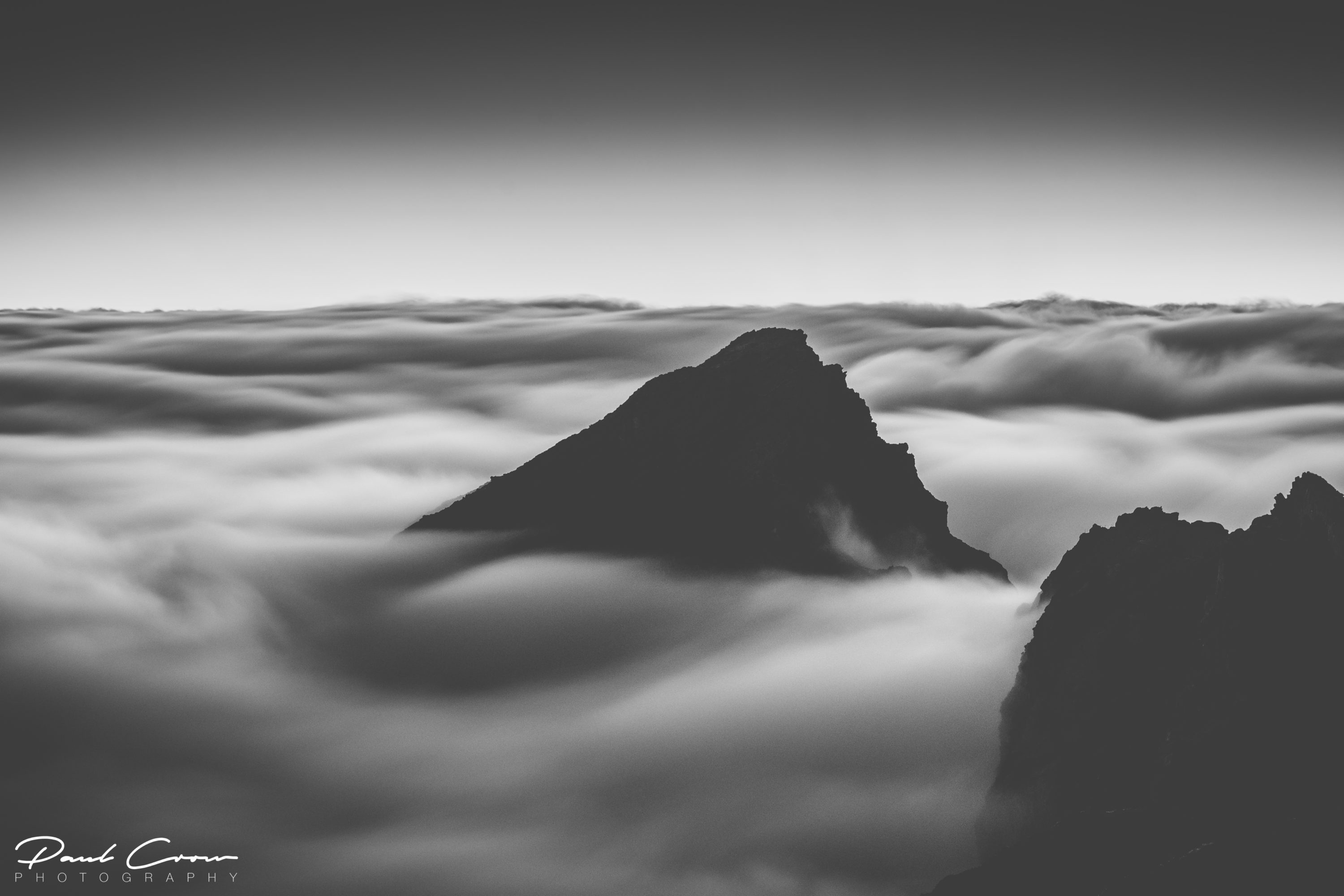 Clouds floating over the Madeira Island