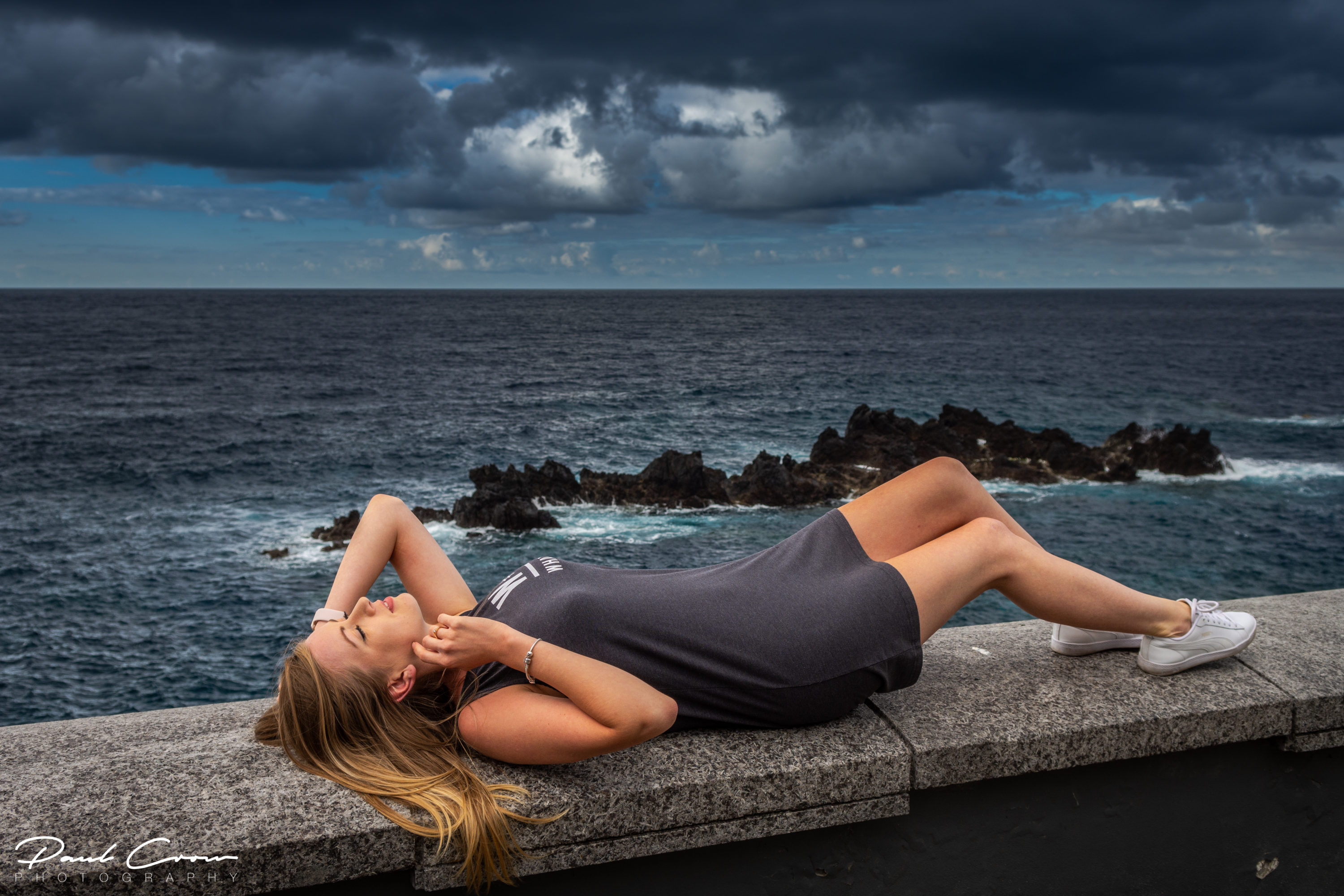 Posing in Porto Moniz