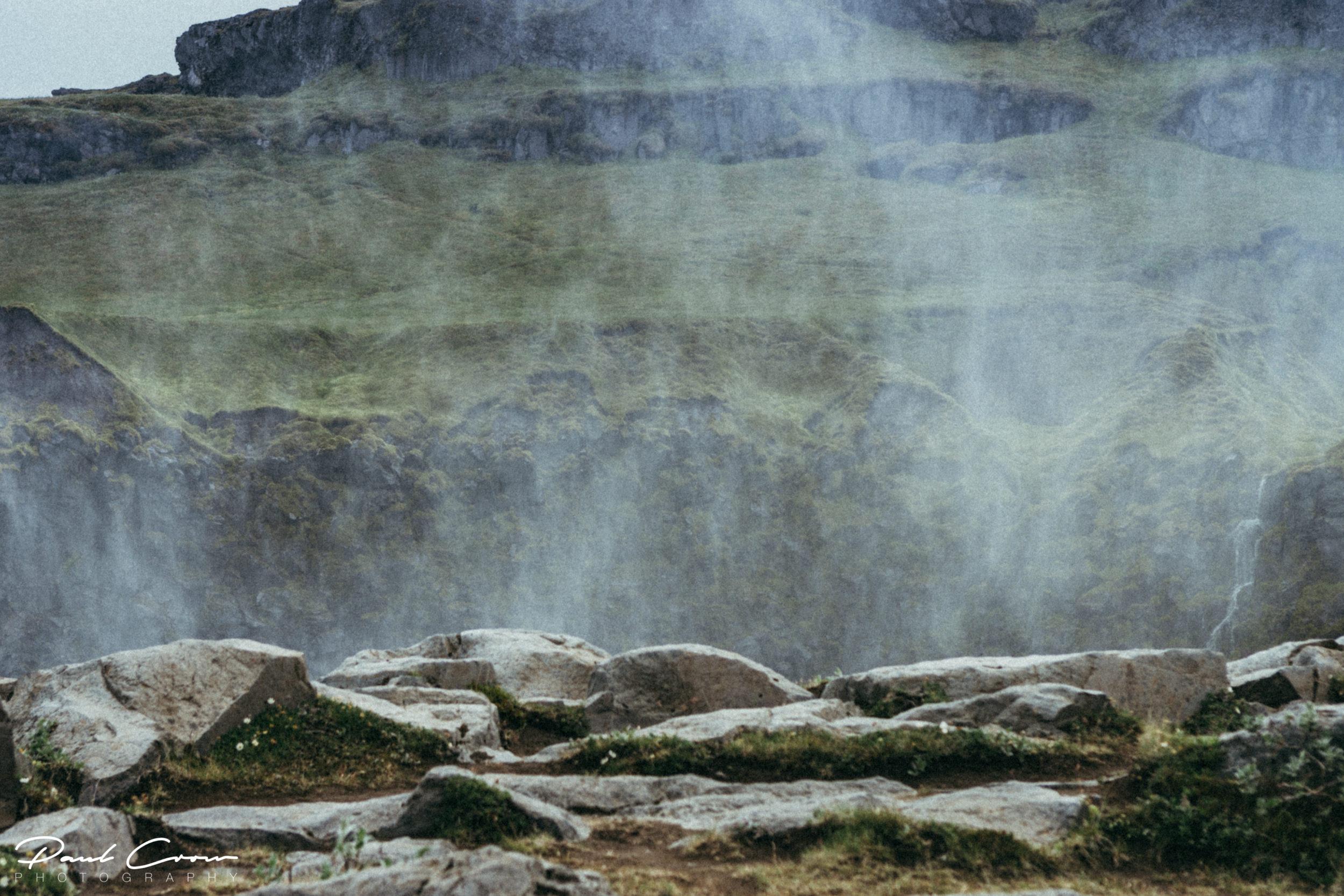 Water vapor from Dettifoss