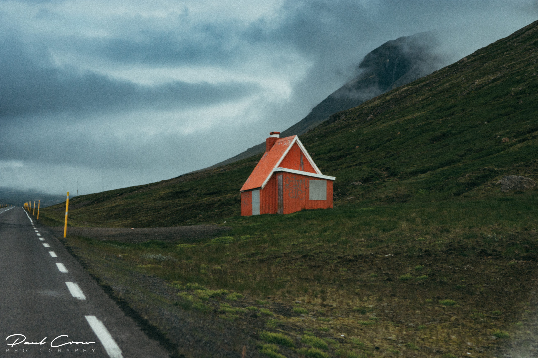 Stöðvarfjörður vintage landscape by the road